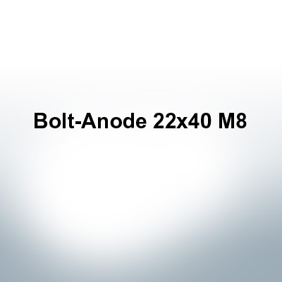 Anodes compatible to Volvo Penta | Bolt-Anode 22x40 M8 (AlZn5In) | 9231AL