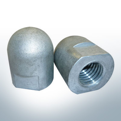 Anodes compatible to Volvo Penta | Cap-Anode M16x1,5 short (AlZn5In) | 9241AL