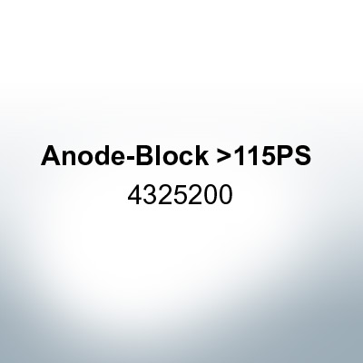 Anodes compatible to Yamaha and Yanmar | Anode-Block >115PS 4325200 (AlZn5In) | 9550AL