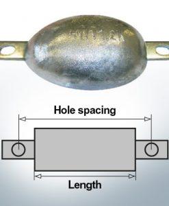 Block- and Ribbon-Anodes Oval L120/150 (Zinc) | 9304
