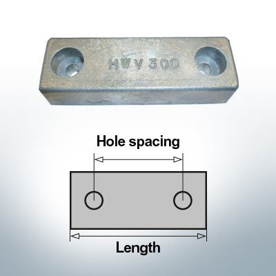Block- and Ribbon-Anodes Block L90/70 (Zinc) | 9312