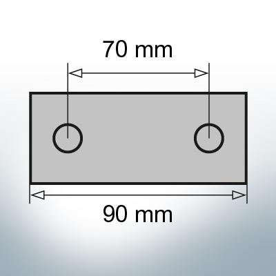 Block- and Ribbon-Anodes Block L90/70 (AlZn5In)   9312AL