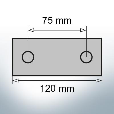 Block- and Ribbon-Anodes Block L120/75 (Zinc) | 9314