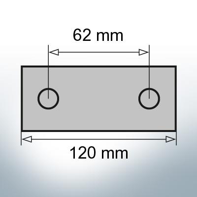 Block- and Ribbon-Anodes Block L120/62 (Zinc) | 9315