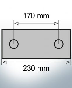 Block- and Ribbon-Anodes Block L230/170 (AlZn5In) | 9319AL