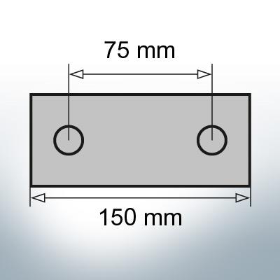 Block- and Ribbon-Anodes Block L150/75 (Zinc) | 9321