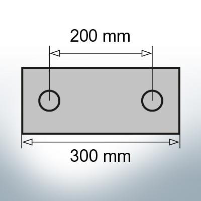 Block- and Ribbon-Anodes Block L300/200 (AlZn5In)   9323AL