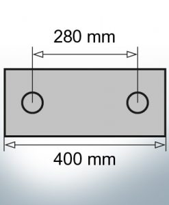 Block- and Ribbon-Anodes Block L400/280 (AlZn5In) | 9329AL