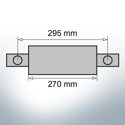 Block- and Ribbon-Anodes Square L270/295 (AlZn5In)   9331AL