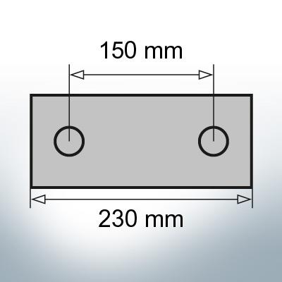Block- and Ribbon-Anodes Block L230/150 (Zinc)   9338
