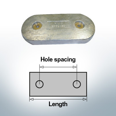 Block- and Ribbon-Anodes Block L267/147 (Zinc) | 9345