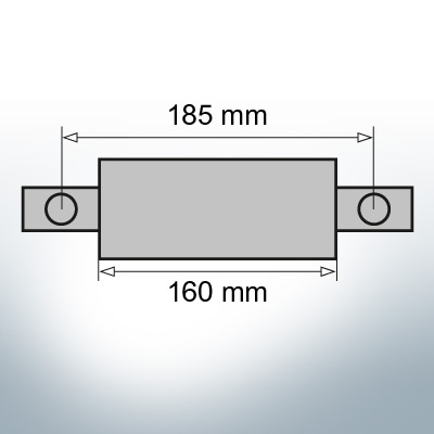 Block- and Ribbon-Anodes Flat-Anode L160/185 (Zinc) | 9350