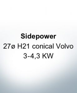 Sidepower 27ø H21 conical Volvo 3-4,3 KW (AlZn5In) | 9617AL