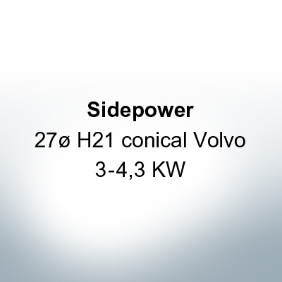 Sidepower 27ø H21 conical Volvo 3-4,3 KW (Zinc) | 9617