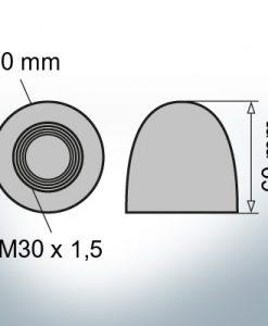 Nut-Caps M30x1,5 Ø50/H60 (AlZn5In) | 9400AL