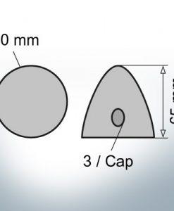 Three-Hole-Caps Ø50/H65 (AlZn5In) | 9406AL