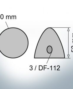 Three-Hole-Caps | suitable for DF-112 Ø90/H53 (Zinc) | 9412