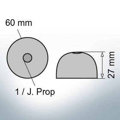 One-Hole-Caps   J. Prop Ø60/H27 (Zinc)   9427