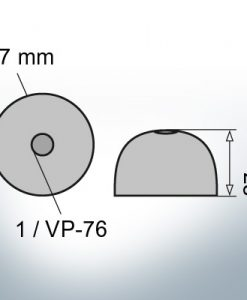 One-Hole-Caps | suitable for VP-76 Ø67/H27 (Zinc) | 9452