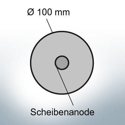 Disk-Anodes Ø 100mm | hole (AlZn5In) | 9801AL