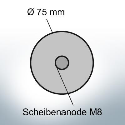 Disk-Anodes Ø 75mm   Bundle (Zinc)   9805 9806