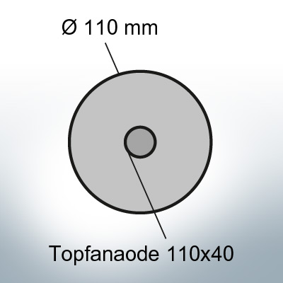 Cylinder-Anodes 110x40 Ø110 mm (AlZn5In)   9809AL