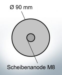 Disk-Anodes with M8 Ø90 mm (AlZn5In) | 9810AL
