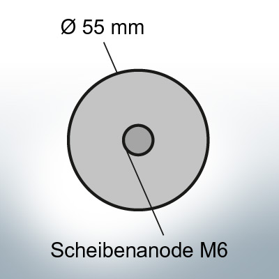 Disk-Anodes with M6 Ø55 mm (Zinc) | 9811