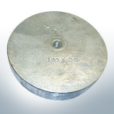 Trim-Tab-Anodes with M8 100x40 Ø100 mm (Zinc) | 9812