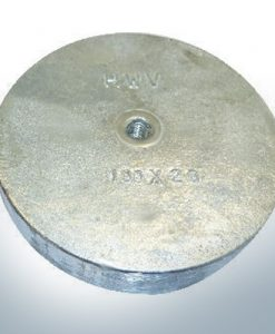 Trim-Tab-Anodes with M8 100x40 Ø100 mm (AlZn5In) | 9812AL