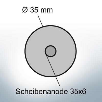 Disk-Anodes 35x6 Ø35 mm (AlZn5In) | 9816AL