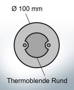 Thermocover round Ø100 mm (AlZn5In) | 9817AL