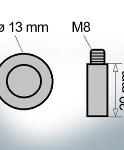 Bolt-Anodes M8 Ø13/L20 (AlZn5In) | 9104AL