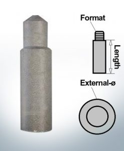 Bolt-Anodes 8mm Press Ø10/L27 (Zinc) | 9116