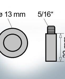 Bolt-Anodes 5/16'' Ø13/L33 (AlZn5In)   9119AL