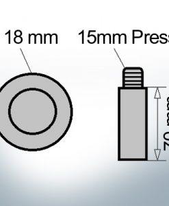 Bolt-Anodes 15mm Press Ø18/L70 (AlZn5In) | 9126AL