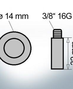Bolt-Anodes 3/8'' 16G Ø14/L32 (AlZn5In) | 9131AL