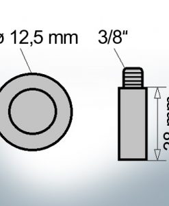 Bolt-Anodes 3/8'' Ø12,5/L38 (AlZn5In) | 9140AL