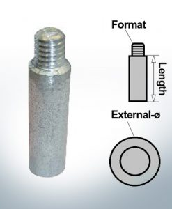 Bolt-Anodes 3/8'' Ø13/L40 (AlZn5In) | 9145AL