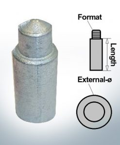 Bolt-Anodes 10 mm Press Ø14/L26 (Zinc) | 9155