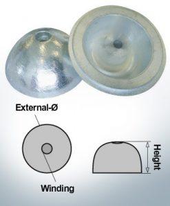Einlochhüte | geeignet für VP-104 Ø88/H35 (Zink) | 9453