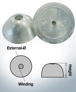 Einlochhüte | geeignet für VP-76 Ø67/H27 (AlZn5In) | 9452AL