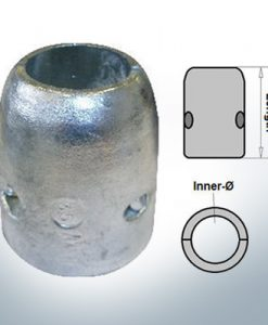 Shaft-Anode with metric inner diameter 20 mm (Zinc) | 9001