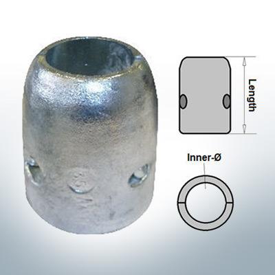 Shaft-Anode with metric inner diameter 25 mm (AlZn5In) | 9002AL