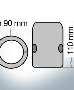 Shaft-Anode with metric inner diameter 90 mm (AlZn5In) | 9014AL