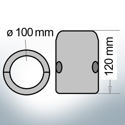 Shaft-Anode with metric inner diameter 100 mm (AlZn5In) | 9015AL