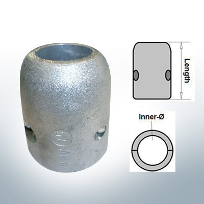 Shaft-Anodes with imperial inner diameter 1 1/2'' (AlZn5In) | 9018AL