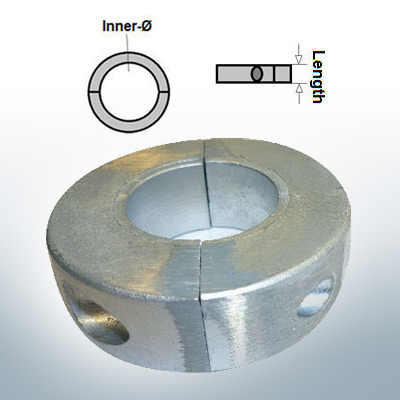 Shaft-Anode-Rings with metric inner diameter 20 mm (AlZn5In) | 9031AL