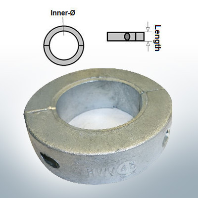 Shaft-Anode-Rings with metric inner diameter 45 mm (Zinc) | 9036