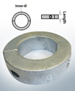 Shaft-Anode-Rings with metric inner diameter 50 mm (AlZn5In) | 9037AL